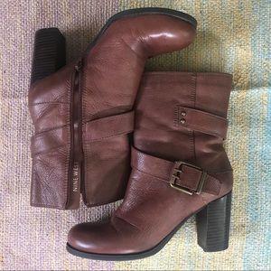 Nine West Brown Heeled Boots Cycloneo